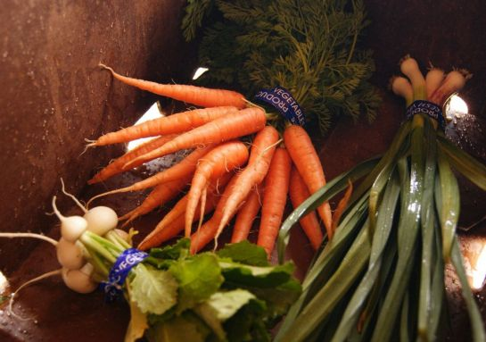 Photo of a typical CSA box