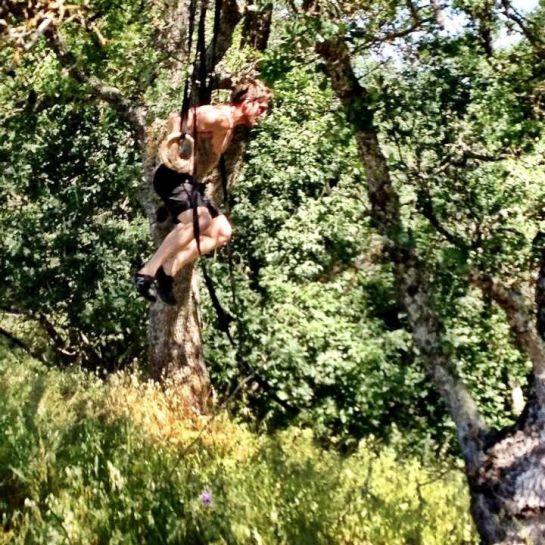 Josh Stonier of Crossfit East Sac Hitting Muscle Ups Outdoors